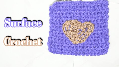 How to Surface Crochet aka Surface Embroidery