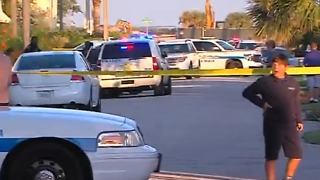 Large police presence on Singer Island in Riviera Beach - Video