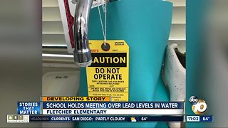School holds meeting over lead levels in water - Video