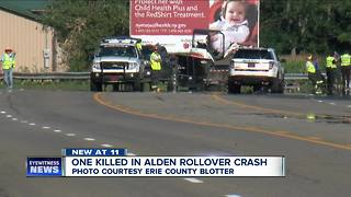 One person dead after crash in Alden - Video