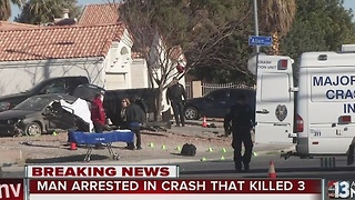 Man arrested in North Las Vegas crash that killed 3 - Video