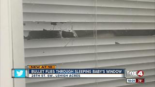 Bullet flies through sleeping baby's window - Video