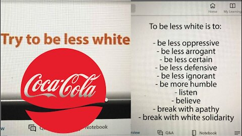 Coca Cola Tells Employees: TRY TO BE LESS WHITE!