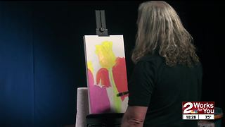 Local artist John Hammer paints ahead of Tulsa's Mayfest - Video