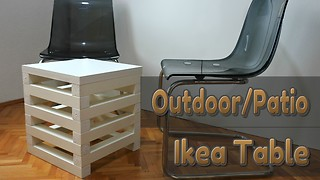 Outdoor/Patio Ikea Table - Video