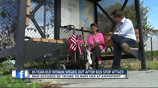 61-year-old woman speaks out after bus stop attack
