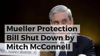 Mueller Protection Bill Shut Down by Mitch McConnell - Video
