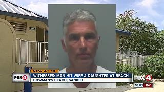 Witnesses: Man hit wife, daughter at beach - Video