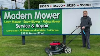 'If he's willing to work, I'm willing to help.' Local business owner gives free mower to 11-year-old