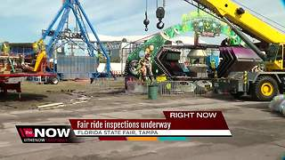 Fair rides inspections underway - Video
