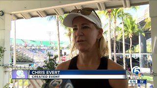 Chris Evert pro-celebrity tennis classic held in Delray Beach