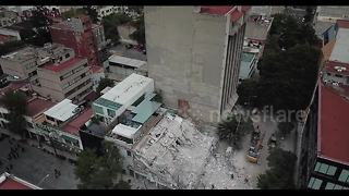 New drone footage shows collapsed buildings from Mexico quake - Video