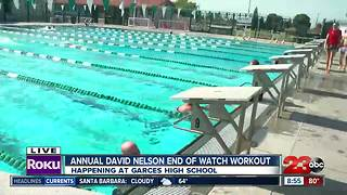 Friends and family swam the third leg of the 3rd Annual David Nelson End of Watch Workout - Video