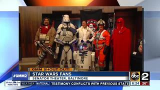 Good morning from Baltimore Star Wars fans - Video