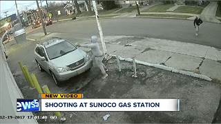 Shooting at Sunoco gas station - Video