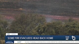 Some fire evacuees head back home