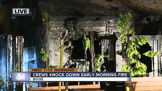 Crews knockdown early-morning fire in Boise's North End - Video