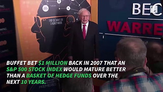 Warren Buffett Wins $1,000,000 Bet Made 10 Years Ago, Then Gives All the Money Away - Video