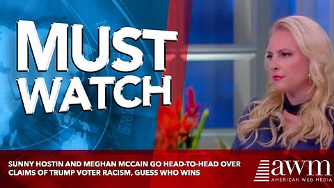 Sunny Hostin and Meghan McCain Go Head-to-Head Over Claims of Trump Voter Racism, Guess Who Wins