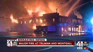 Fire crews battle two-alarm warehouse fire