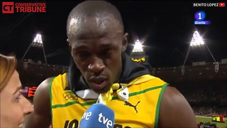 Usain Bolt National Anthem - Video