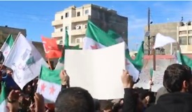 Demonstrators Support Turkish and Free Syrian Army Attacks on Kurdish Forces in Afrin - Video