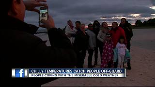 Chilly temperatures catch people off-guard - Video