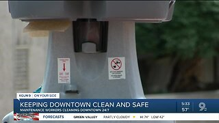 Downtown Tucson cleaning regimen increases amid pandemic