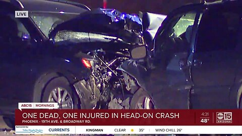 One dead in crash near 19th Avenue and Broadway Road