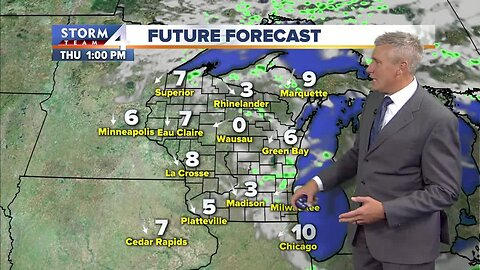 Dry air makes way for perfect Thursday