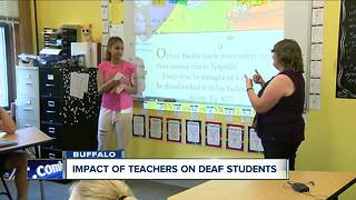 Impact of teachers on deaf students