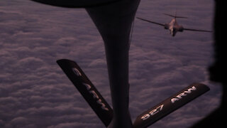 91st Air Refueling Squadron supports Super Bowl flyover