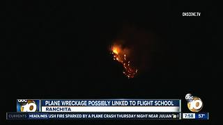 Plane wreckage possibly linked to East County flight school - Video
