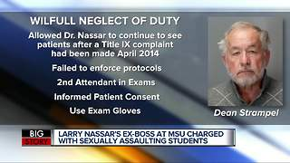 William Strampel, Nassar's former boss at MSU, charged with criminal sexual conduct - Video