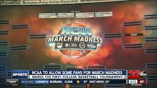 NCAA to allow some fans for March Madness