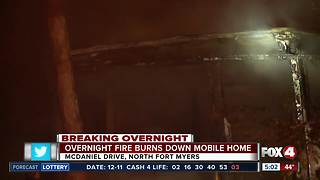 Overnight fire damages NFM home - Video