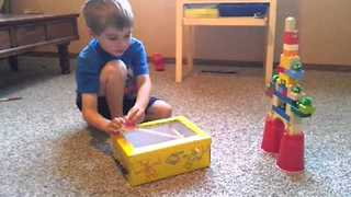 Creative Kid Builds Homemade Angry Birds Game - Video