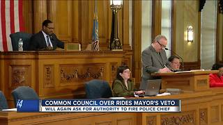 Milwaukee common council overrides Mayor's veto, wants authority to fire police chief - Video