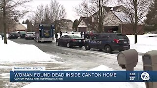 Woman found dead inside Canton home