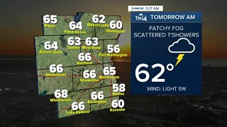 Evening showers likely Wednesday