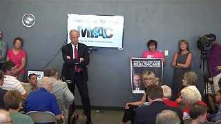 Republican Stalwart Jerry Moran Speaks Against Healthcare Bill at Town Hall in Palco - Video