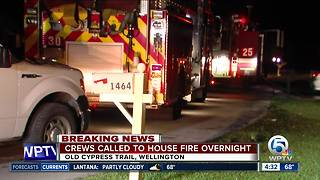 Crews called to overnight house fire in Wellington - Video