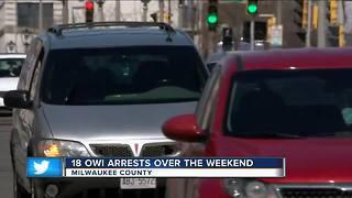 18 OWI arrests made by Milwaukee County Sheriff's Deputies over St. Patrick's Day weekend - Video