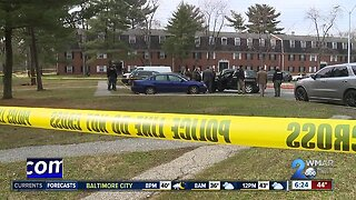Two officers wounded, suspect dead in Baltimore shooting