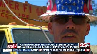 Former firefighter, Marine veteran helping create defensible space