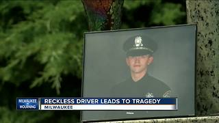 Reckless driving is cause of fallen officer car accident - Video