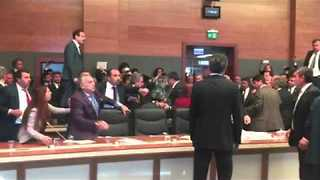 Lawmakers Brawl in Turkish Parliament Over Lifting of Immunity - Video