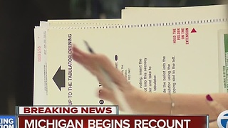 Presidential recount begins in Michigan