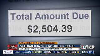 Vietnam veteran receives eye-popping $2,500 trash bill - Video