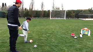 Cristiano Ronaldo Jr Has Some SICK Moves - Video